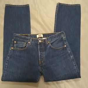Levi's 501 straight leg button fly jeans 33x32